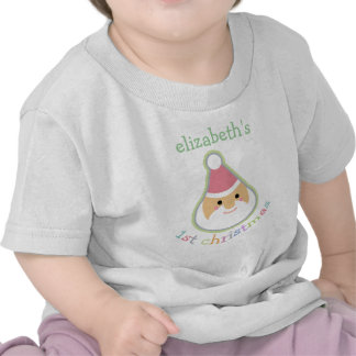 Personalized Baby s First Christmas Tees