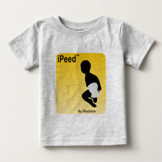 Personalized Baby Shirt, iPeed By Madison Baby T-Shirt