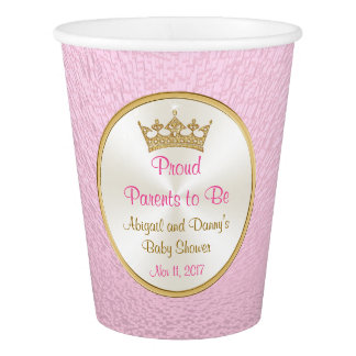 Personalized Baby Shower Paper Cups, Princess Paper Cup