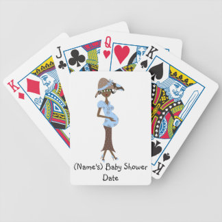 Personalized Baby Shower Playing Cards-Mom-To-Be Bicycle Poker Deck