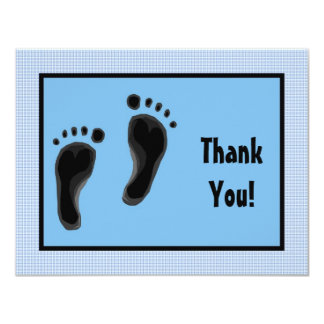 Personalized Baby shower thank you cards Baby feet 11 Cm X 14 Cm Invitation Card