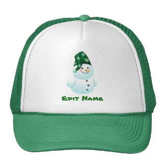 Personalized Baby Snowman Cartoon Cap