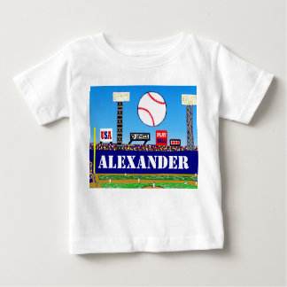 Personalized Baby Sports Gift Kids Baseball Tshirt