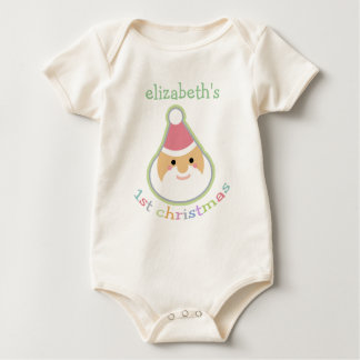 Personalized Baby's First Christmas Baby Bodysuit
