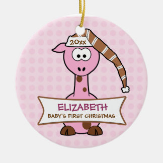 Personalized Baby's First Christmas Giraffe Christmas Ornament