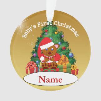 Personalized Baby's First Christmas Tree Ornament