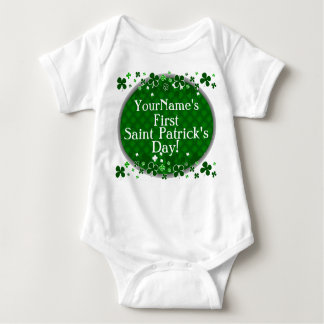 Personalized Baby's First Saint Patrick's Day Baby Bodysuit