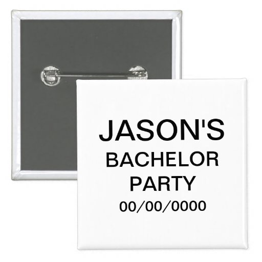 Personalized Bachelor Party Button
