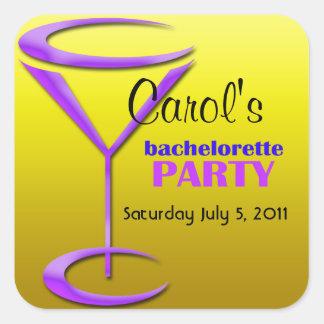 Personalized Bachelorette Party Gift Ideas Square Sticker
