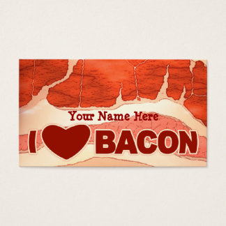Personalized Bacon love Business Card