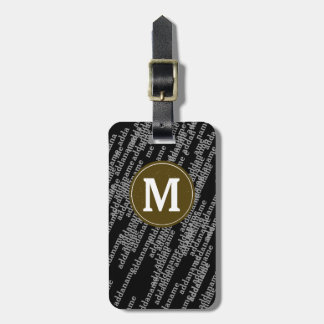 personalized baggage modern luggage tag