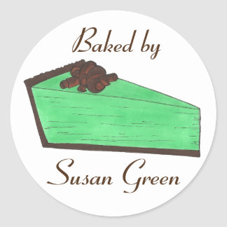 Personalized Baked Made By Grasshopper Pie Sticker