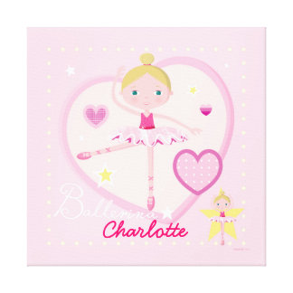 Personalized Ballerina A Canvas Gallery Wrap Canvas