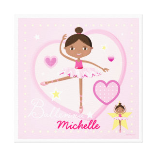 Personalized Ballerina A Canvas Canvas Prints