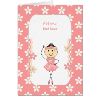 Personalized ballerina birthday card
