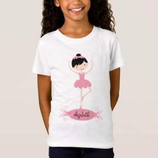 Personalized Ballerina Girls T-Shirt