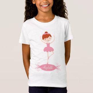 Personalized Ballerina Girls T-Shirt