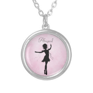 Personalized Ballerina Silhouette  Necklace