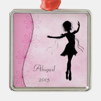 Personalized Ballerina Silhouette Ornament