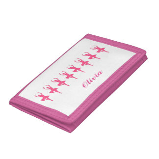 "Personalized ""Ballerina"" Tri-Fold Wallet"