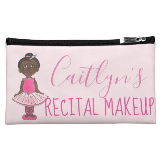 Personalized Ballet Dance Recital Makeup Ballerina Makeup Bag