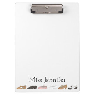 Personalized Ballet Tap Dance Teacher Clipboard