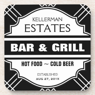 Personalized Bar Sign for Man Cave Coaster