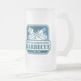 Personalized Barbecue Frosted Glass Beer Mug
