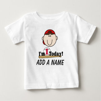 Personalized Baseball 1st Birthday T-shirt