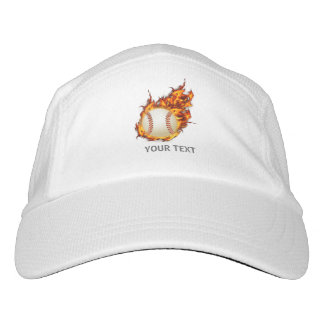 Personalized Baseball Ball on Fire Hat