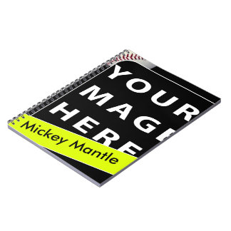 Personalized Baseball Card Notebook