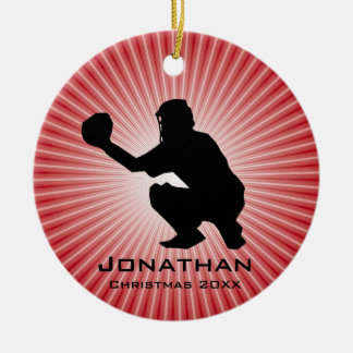Personalized Baseball (Catcher) Ornament
