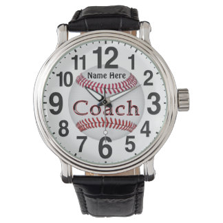 Personalized Baseball Coach Gifts BASEBALL WATCHES