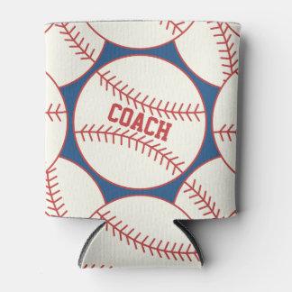 Personalized Baseball Coach Pattern Blue Red