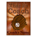 PERSONALIZED Baseball Coach Thank You Card