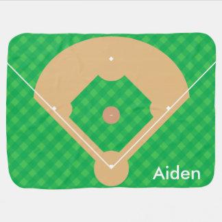 Personalized Baseball Diamond Buggy Blanket