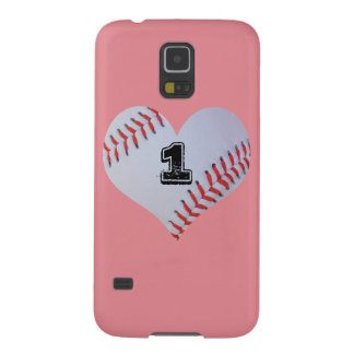 Personalized baseball heart case
