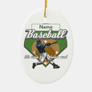 Personalized Baseball Home Run Christmas Ornament
