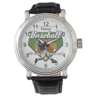 Personalized Baseball Home Run Wristwatches