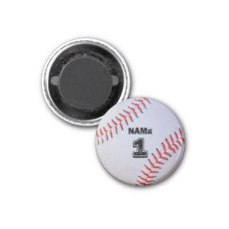 Personalized baseball magnet. magnet