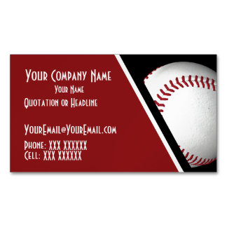 Personalized Baseball Magnetic Business Cards