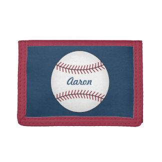 Personalized Baseball Men's Boy's Wallet Gift