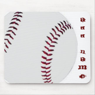Personalized Baseball Mouse Pad