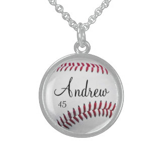 Personalized Baseball Necklace