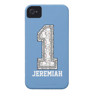 Personalized Baseball Number 1 iPhone 4 Cover