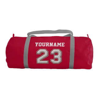 Personalized Baseball Number 23 with Your Name Gym Duffel Bag