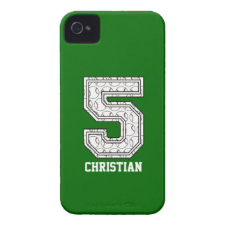 Personalized Baseball Number 5 iPhone 4 Cases