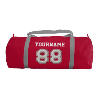 Personalized Baseball Number 88 with Your Name Gym Duffel Bag