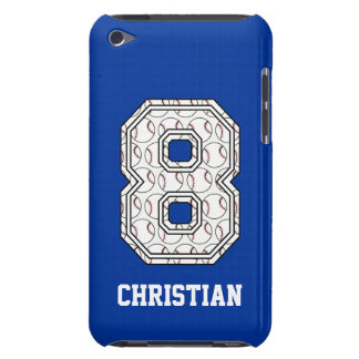Personalized Baseball Number 8 iPod Touch Case-Mate Case