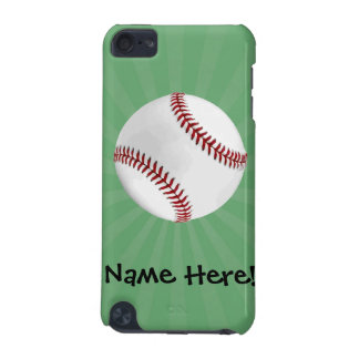 Personalized Baseball on Green Kids Boys iPod Touch (5th Generation) Cover